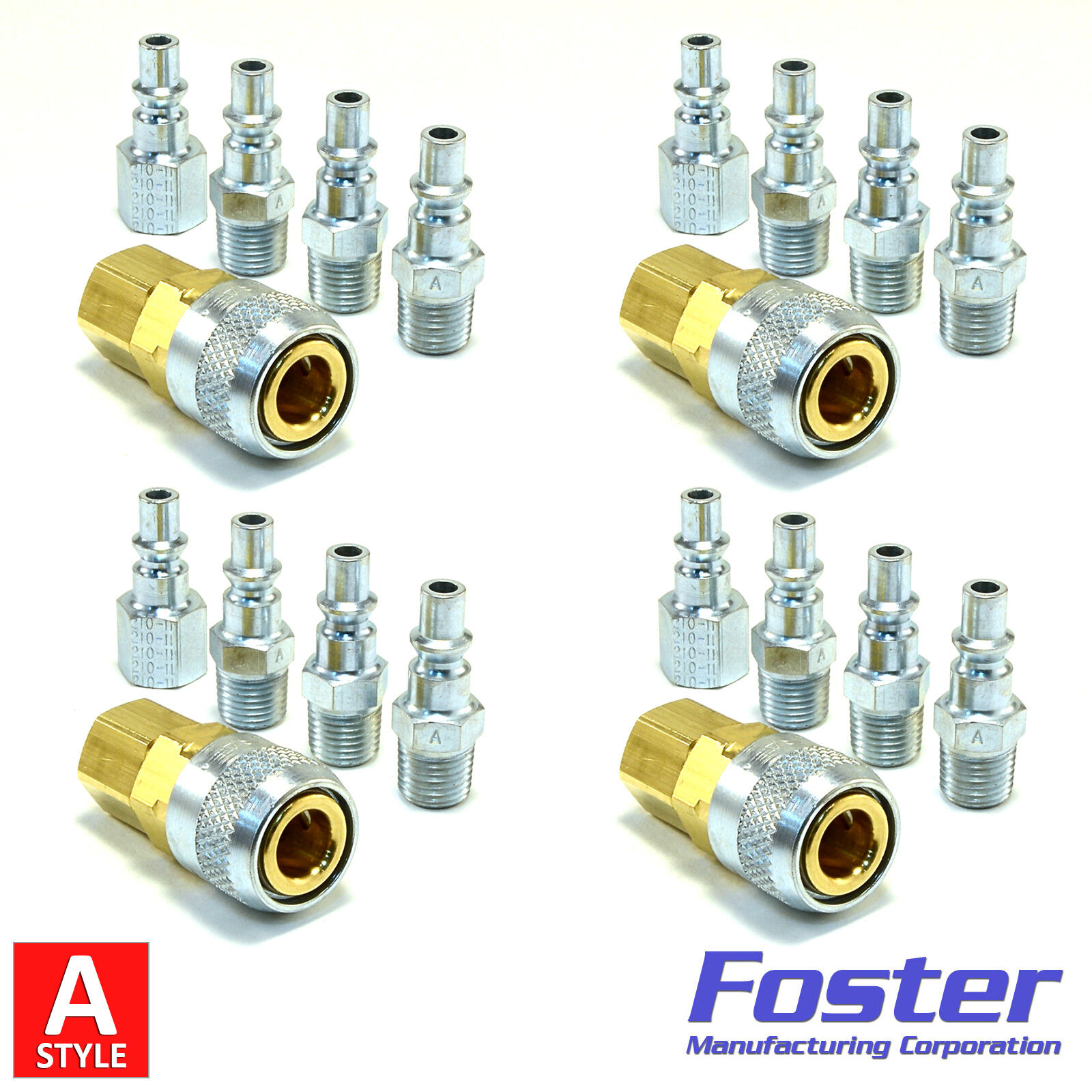 20pc Quick Coupler Set Air Hose Connector Fittings 1/4 NPT Tools Plug Compressor 1 of 12FREE Shipping See More  sc 1 st  PicClick & 20PC Quick Coupler Set Air Hose Connector Fittings 1/4 NPT Tools ...