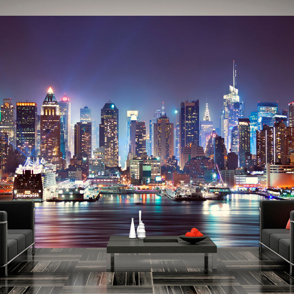 fototapete new york skyline vlies tapete stadt wandbilder 3 farben d b 0034 a b eur 8 99. Black Bedroom Furniture Sets. Home Design Ideas