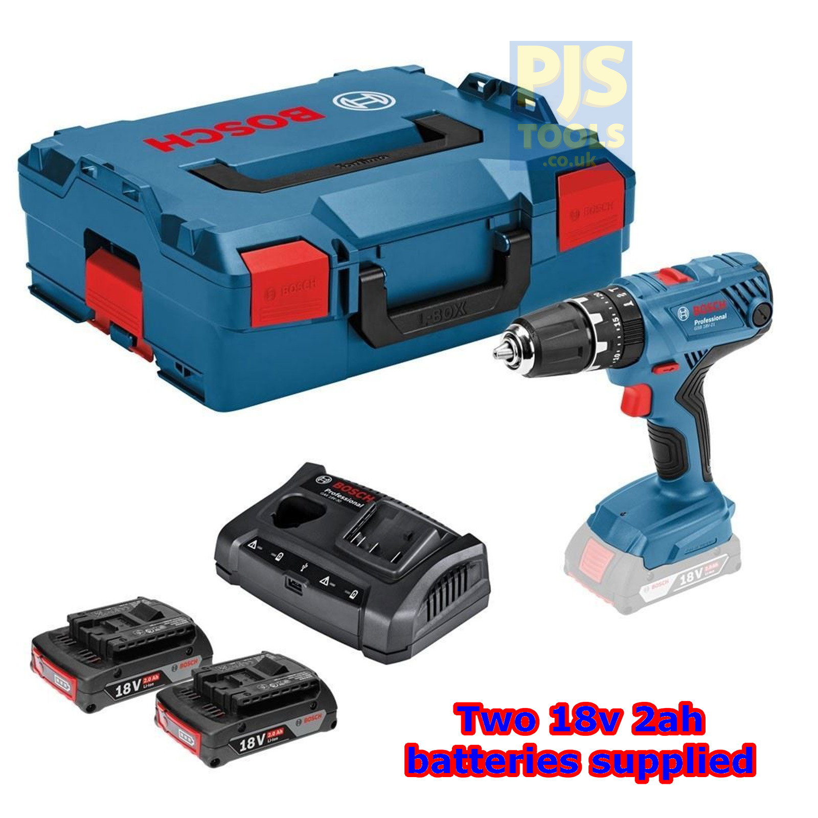 bosch gsb182li plus 18v combi cordless drill 2x2ah li on batts l box gsb 18 2 li. Black Bedroom Furniture Sets. Home Design Ideas