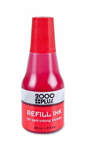 cosco self inking stamp refill ink 25cc 0 9 oz drip spout bottle