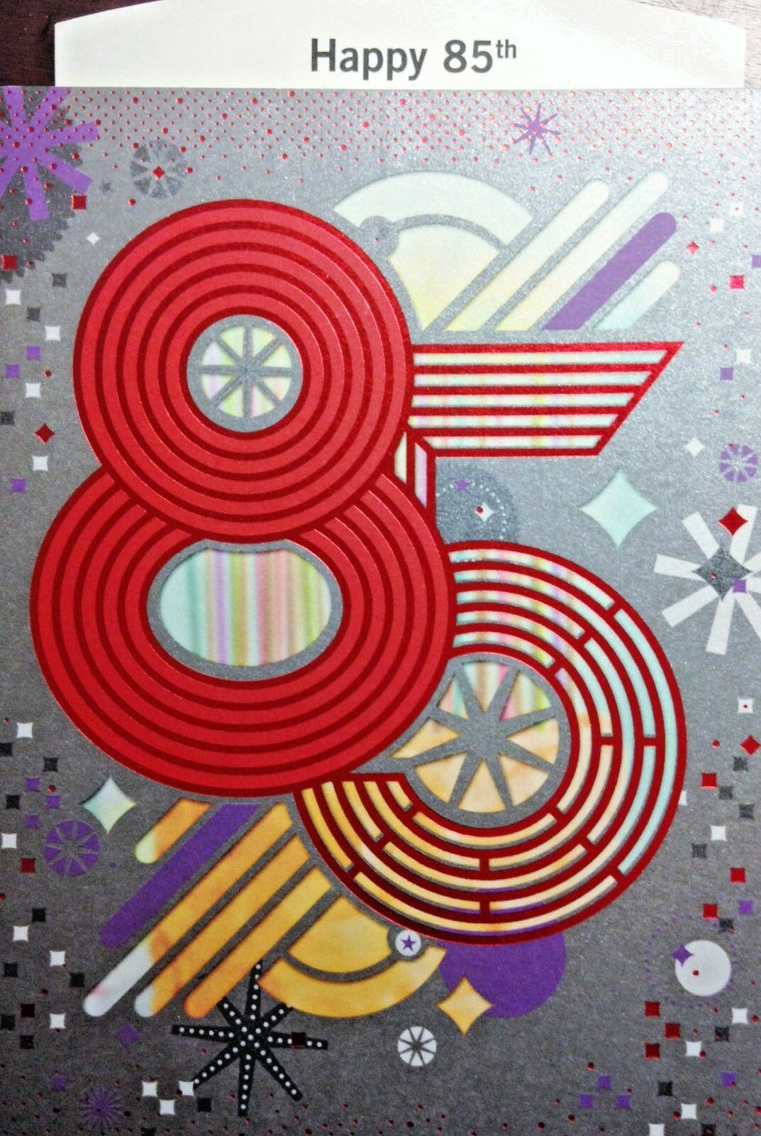 85th Birthday Greeting Cards Happy Birthday Age 85 Choice Of 6 By