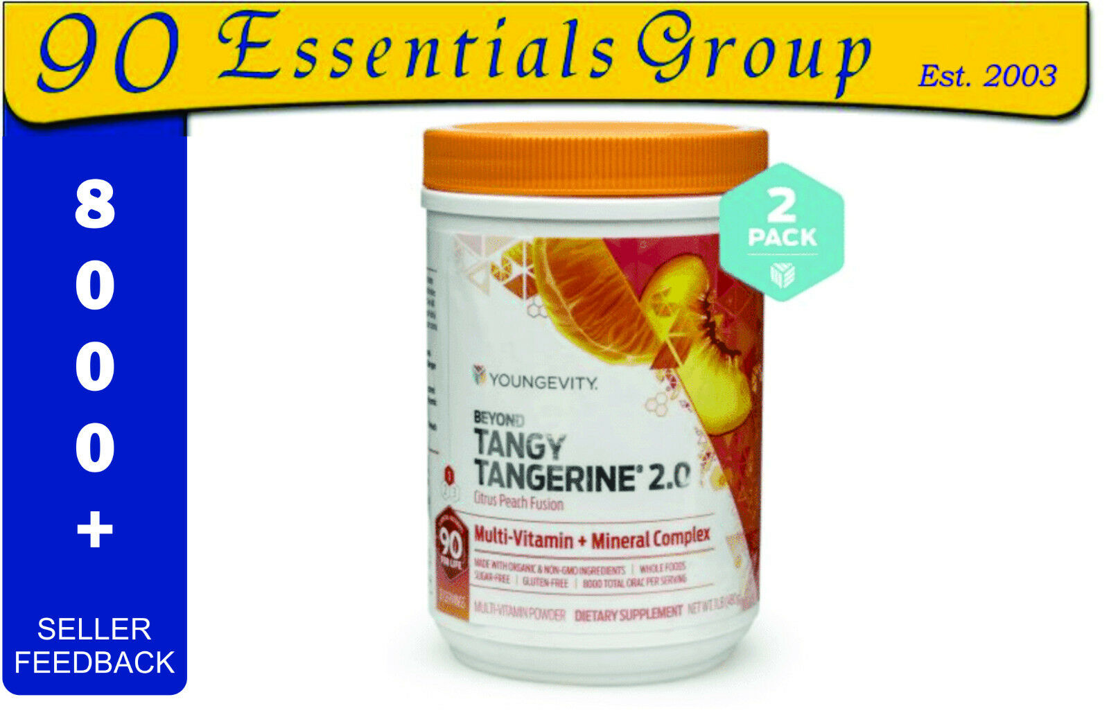 BEYOND TANGY TANGERINE 2.0 Peach Fusion (2- 480g Cans) by Youngevity ...
