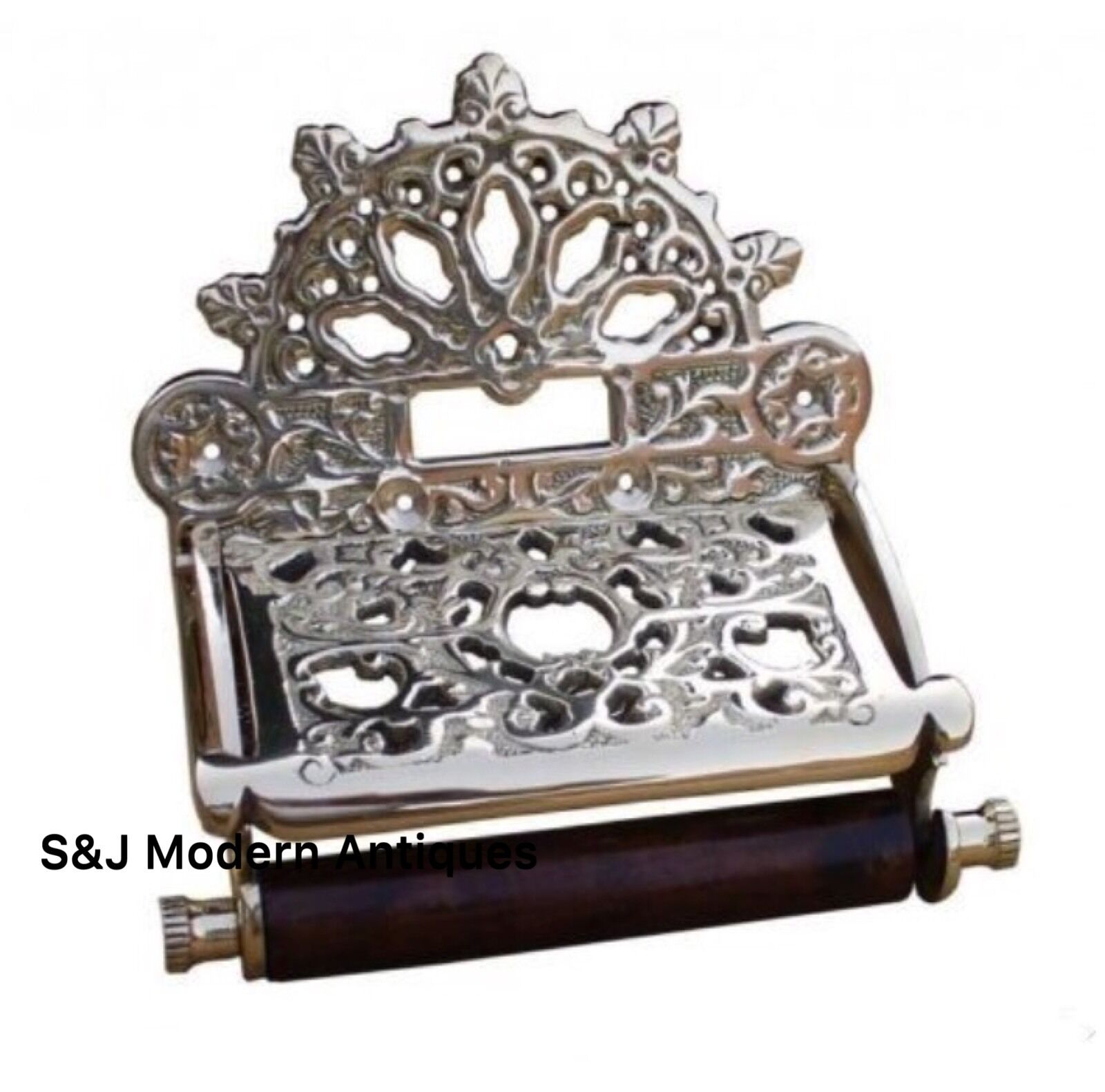 Toilet Roll Holder Chrome Vintage Victorian Unusual Retro