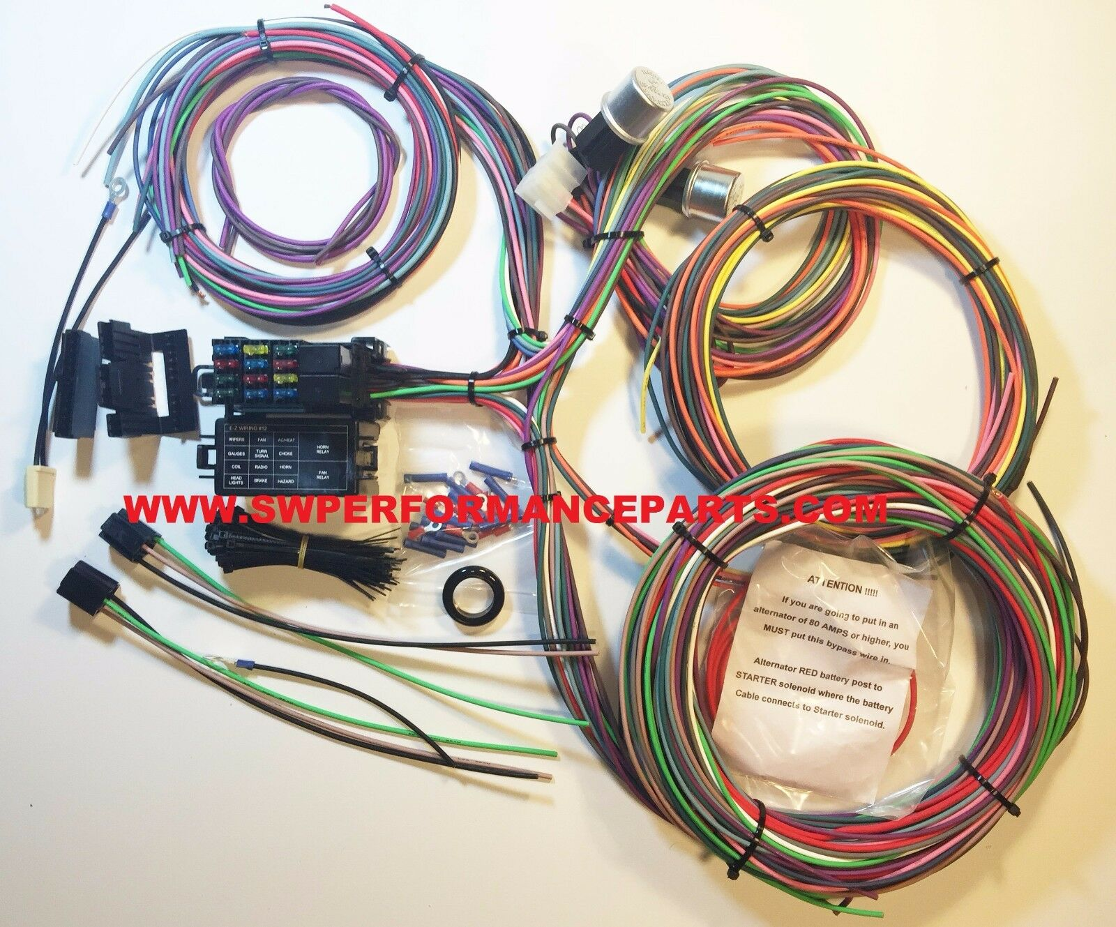EZ Wiring 12 Circut Mini FUSE Wiring Harness CHEVY MOPAR FORD Hotrod XL WIRE  1 of 4FREE Shipping EZ Wiring ...