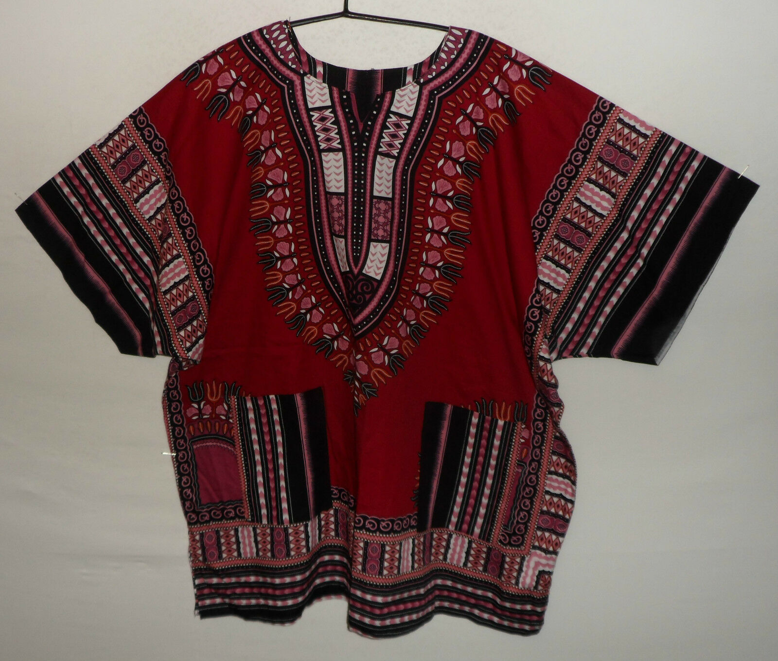 "DASHIKI shirt UK 3XL US 2XL 56"" 143 cm chest XT 32"" long"
