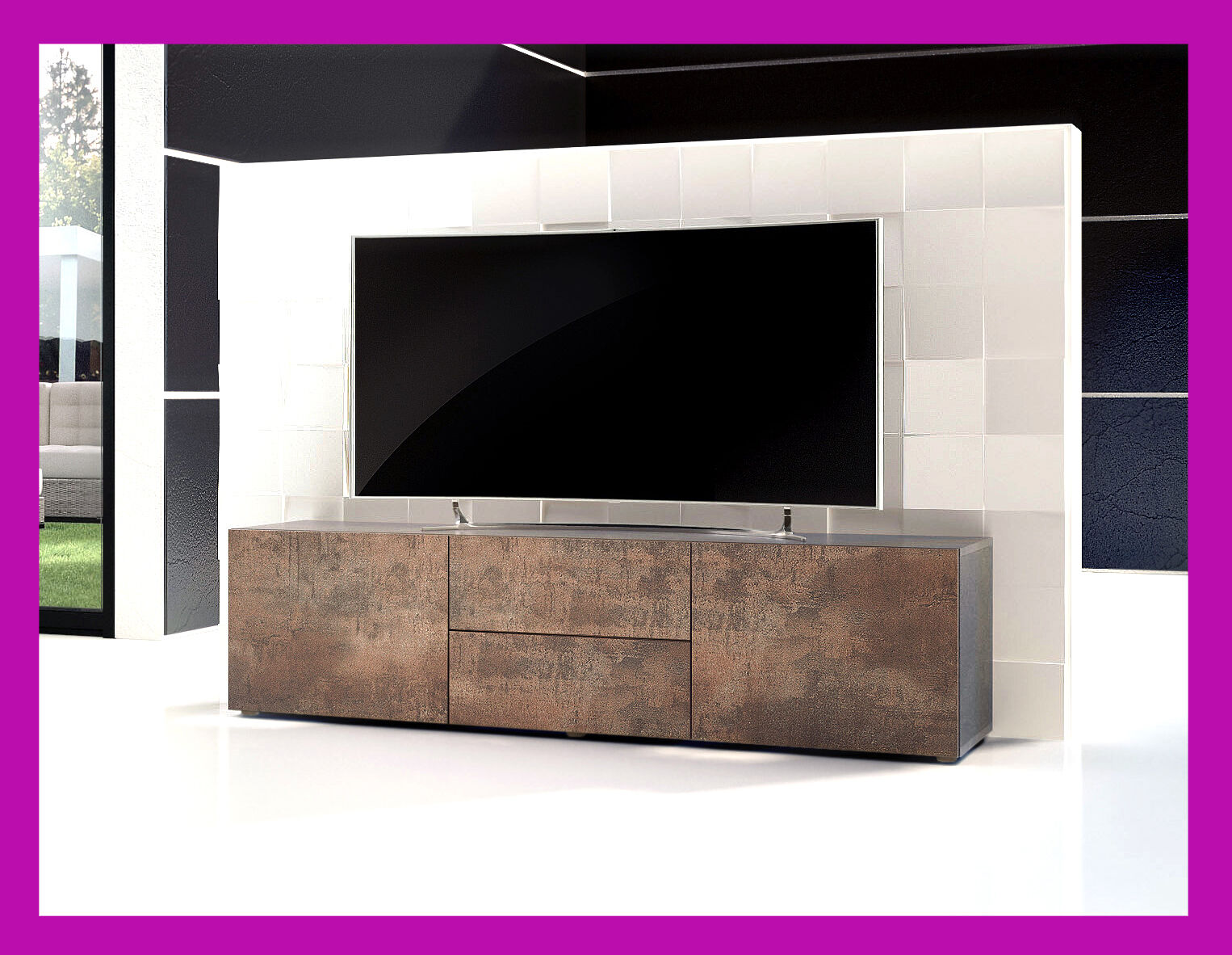 Meuble buffet bas table basse tv armoire salon salle - Meuble bas design salon ...