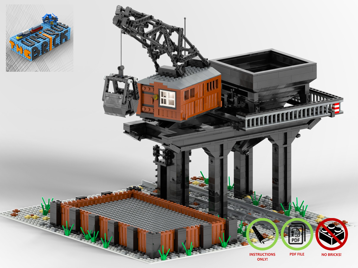 Lego Moc Train Coal Loader Custom Model Pdf Instructions Manual