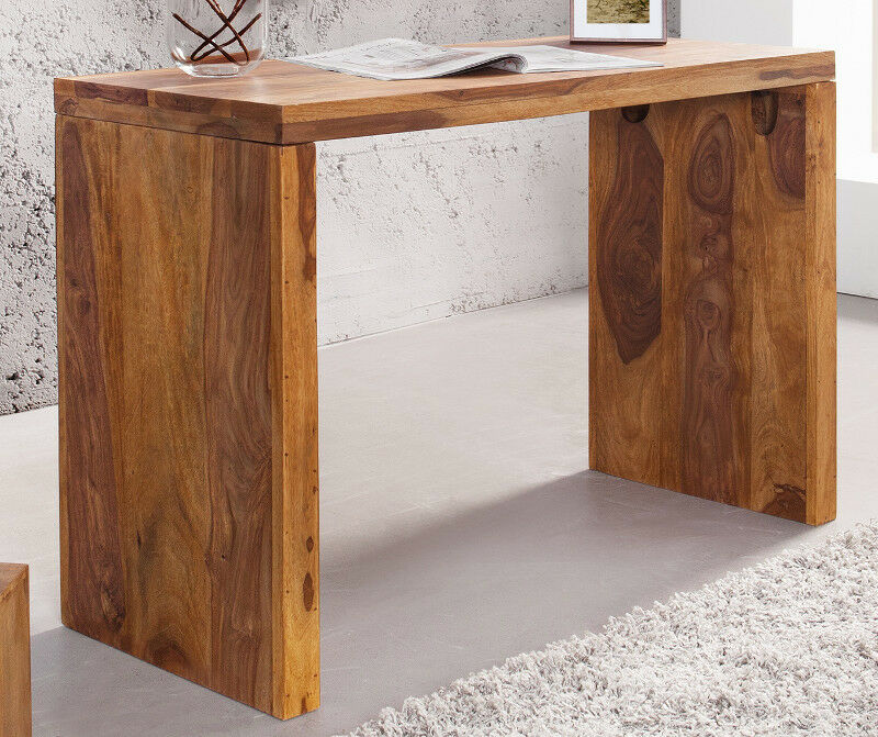 laptoptisch schreibtisch massiv holz sheesham jakarta 100cm natur holz tisch eur 139 95. Black Bedroom Furniture Sets. Home Design Ideas