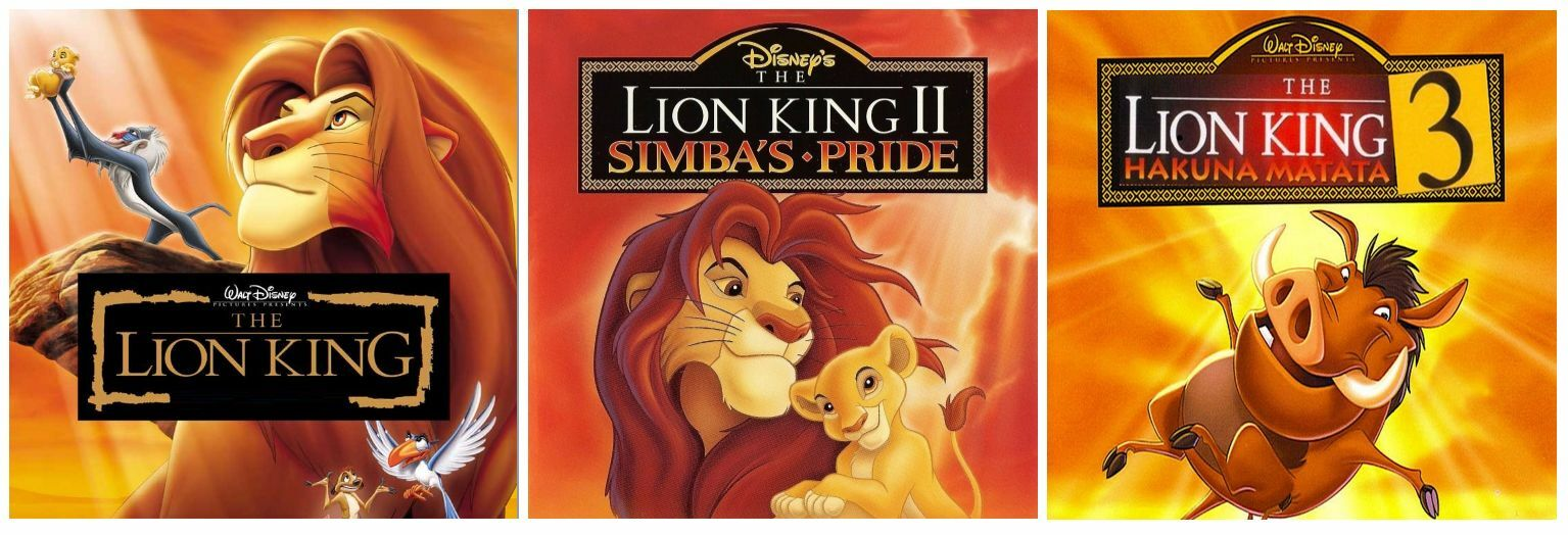 lion king complete trilogy 1 2 3 dvd disney movies 15