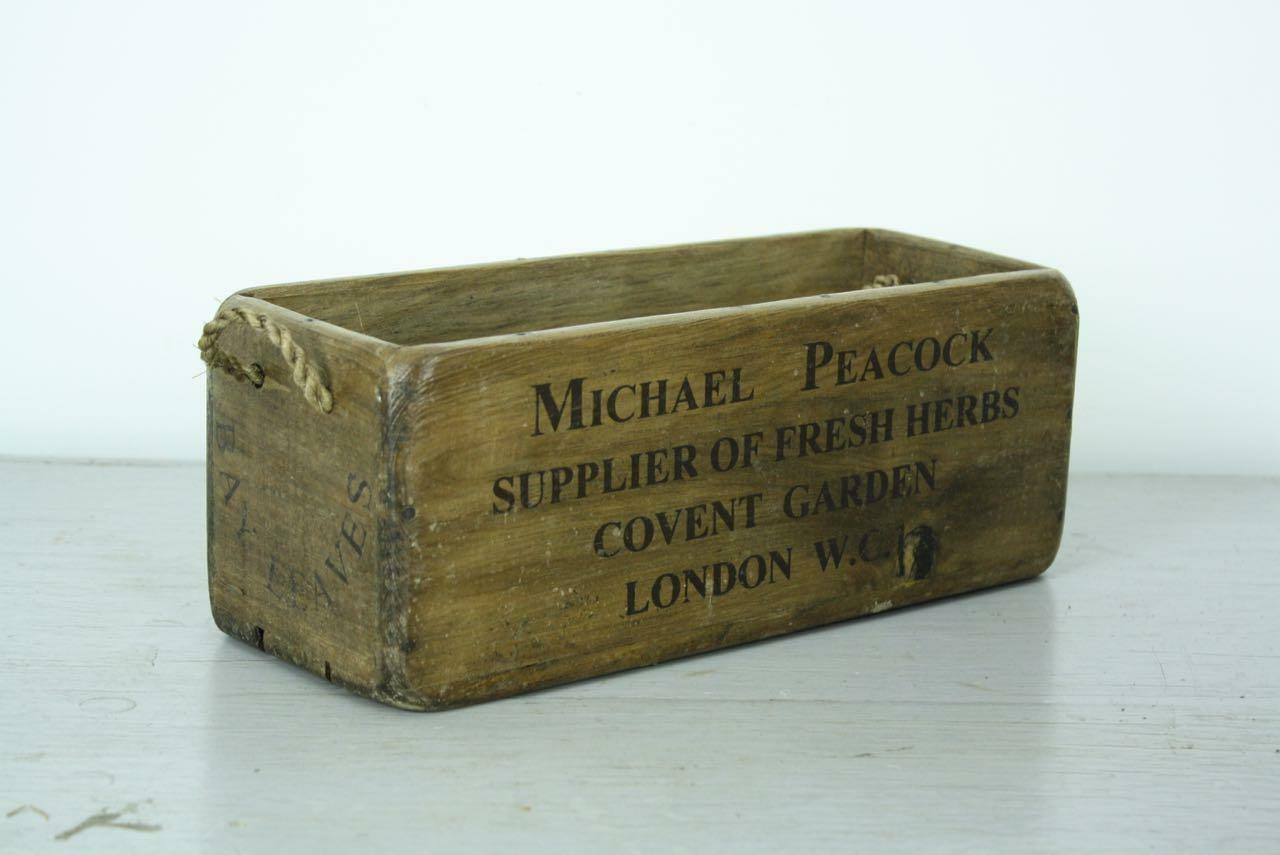 Vintage Wooden Crate Trug Box Industrial Planter Rh4 Bay Leaves Covent Garden