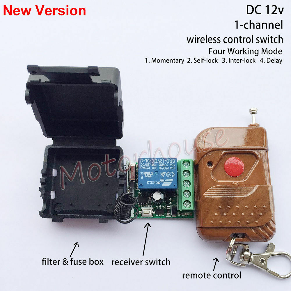 Dc 12v 1ch Channel Wireless Rf Remote Control Switch Transmitter 3pcs Delay Timer Relay Module Turn On Off Receiver 1 Of 8free Shipping