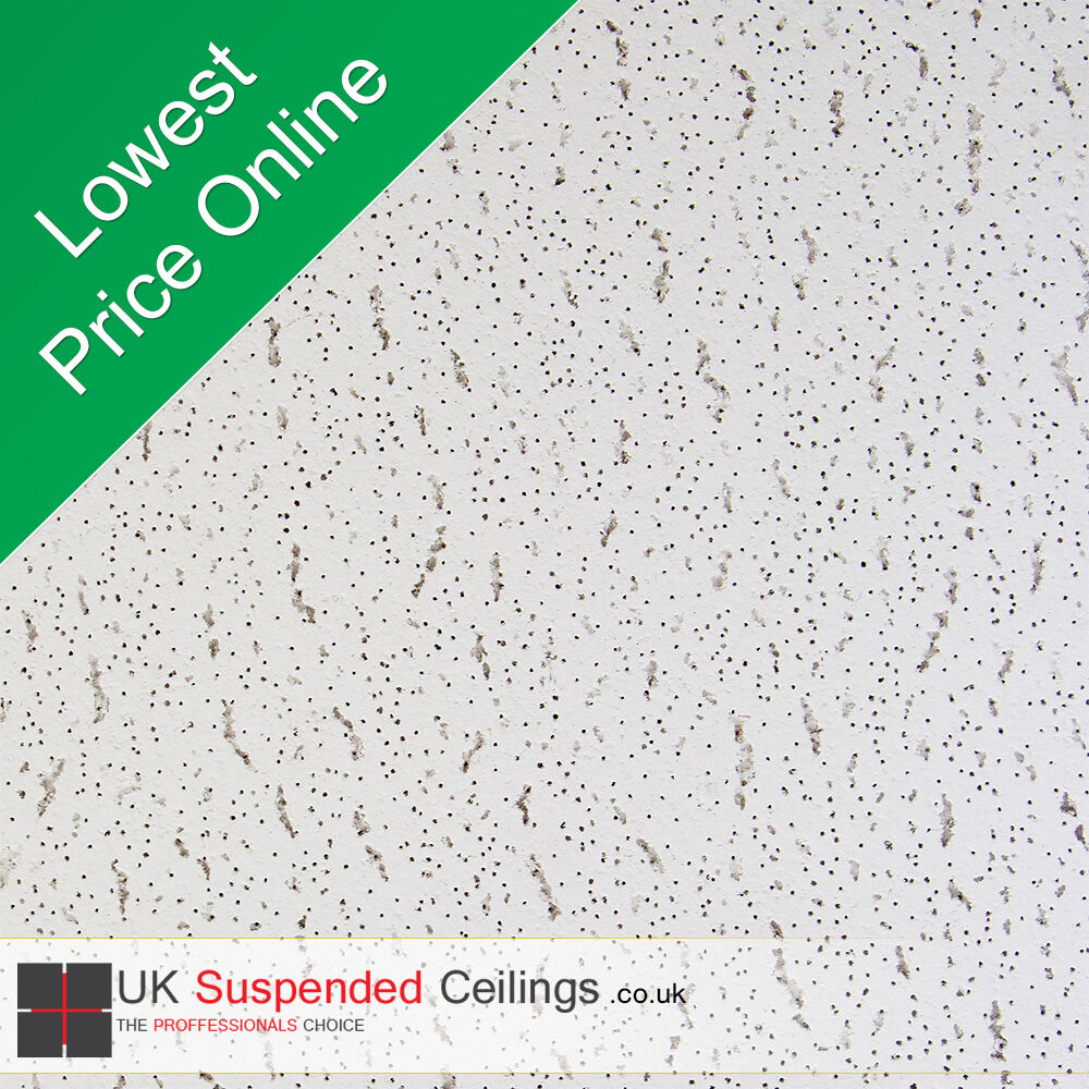 8 Armstrong Tatra Suspended Ceiling Tiles 595x595mm Square Edge