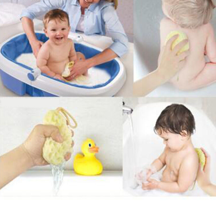 BABY KIDS BATH Brushes Bath Sponge Baby Shower Convenient Product ...