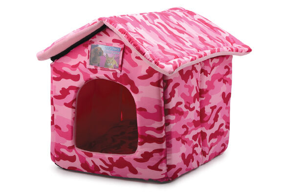 Ancol Just 4 Pets House Bed - Pink Camouflage - Dog & Cat