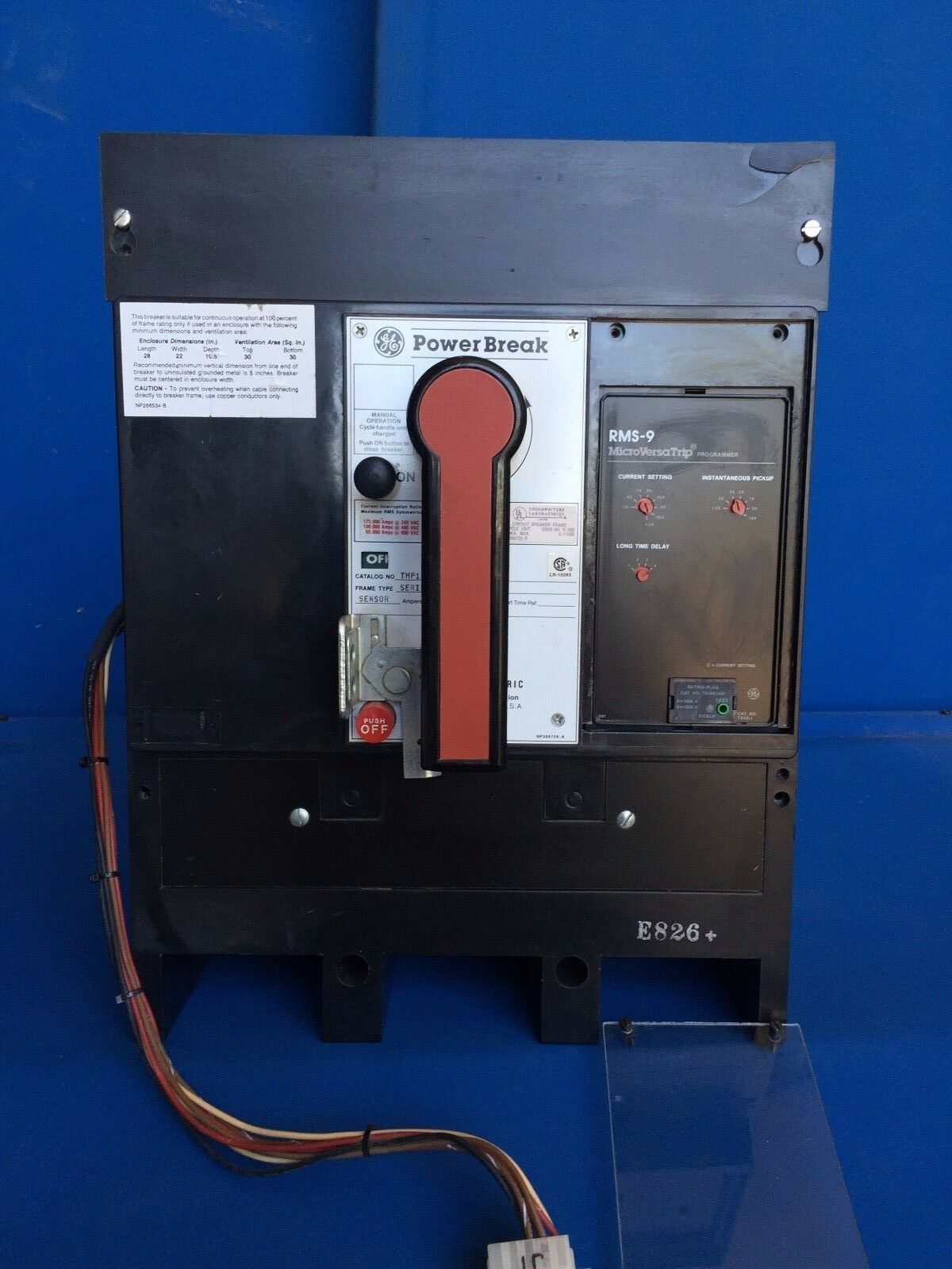 Ge Power Break Thp1616ss 1600a 600v 3p Circuit Breaker W Shunt Trip Thermal Breakers And Turn Off The If Current Auxiliary 1 Of 8only Available
