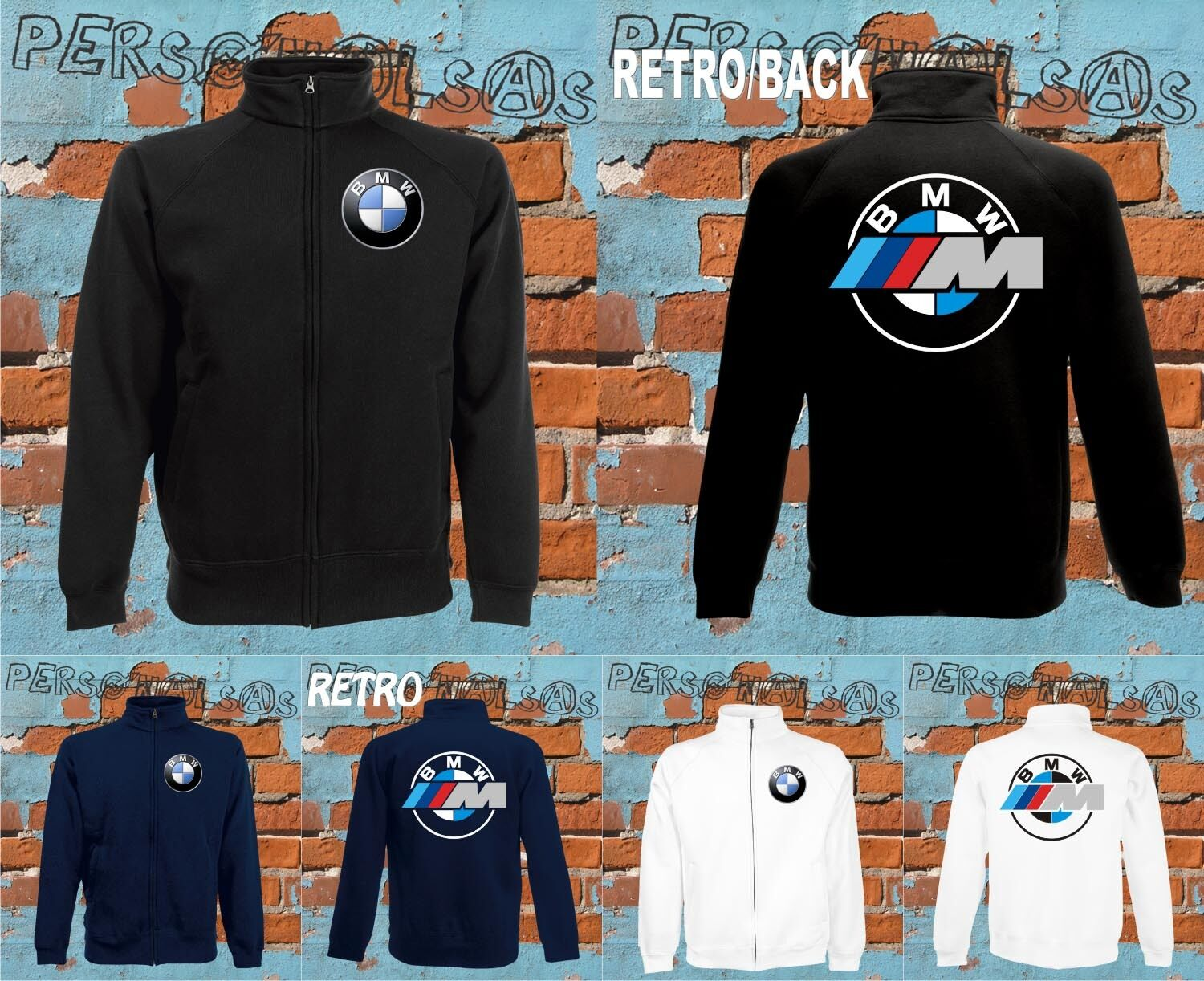 bmw veste sweat veste sweat shirt fermeture clair voiture auto moto s rie m x 3 eur 29 40. Black Bedroom Furniture Sets. Home Design Ideas