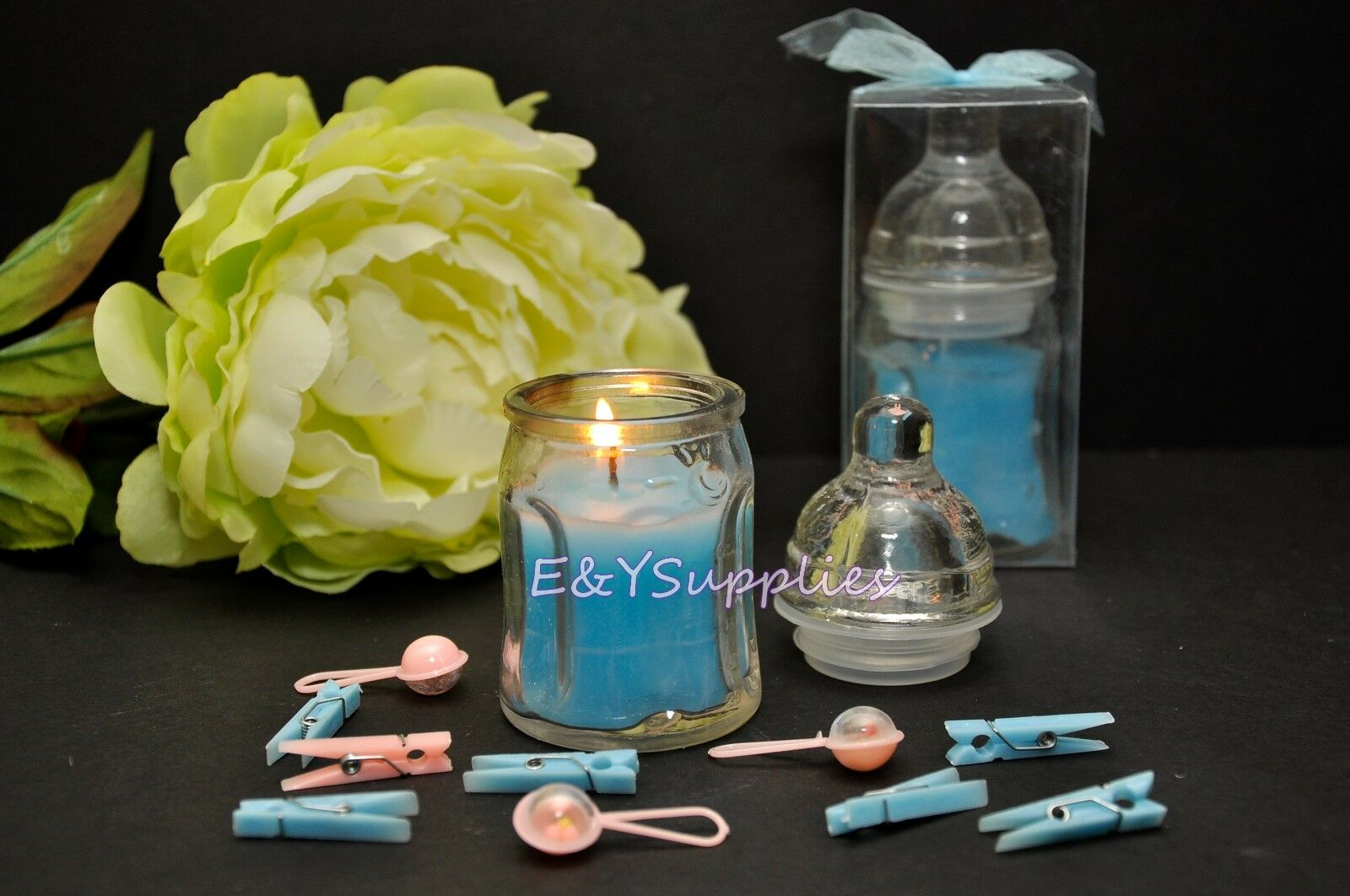 how to make baby bottle candles