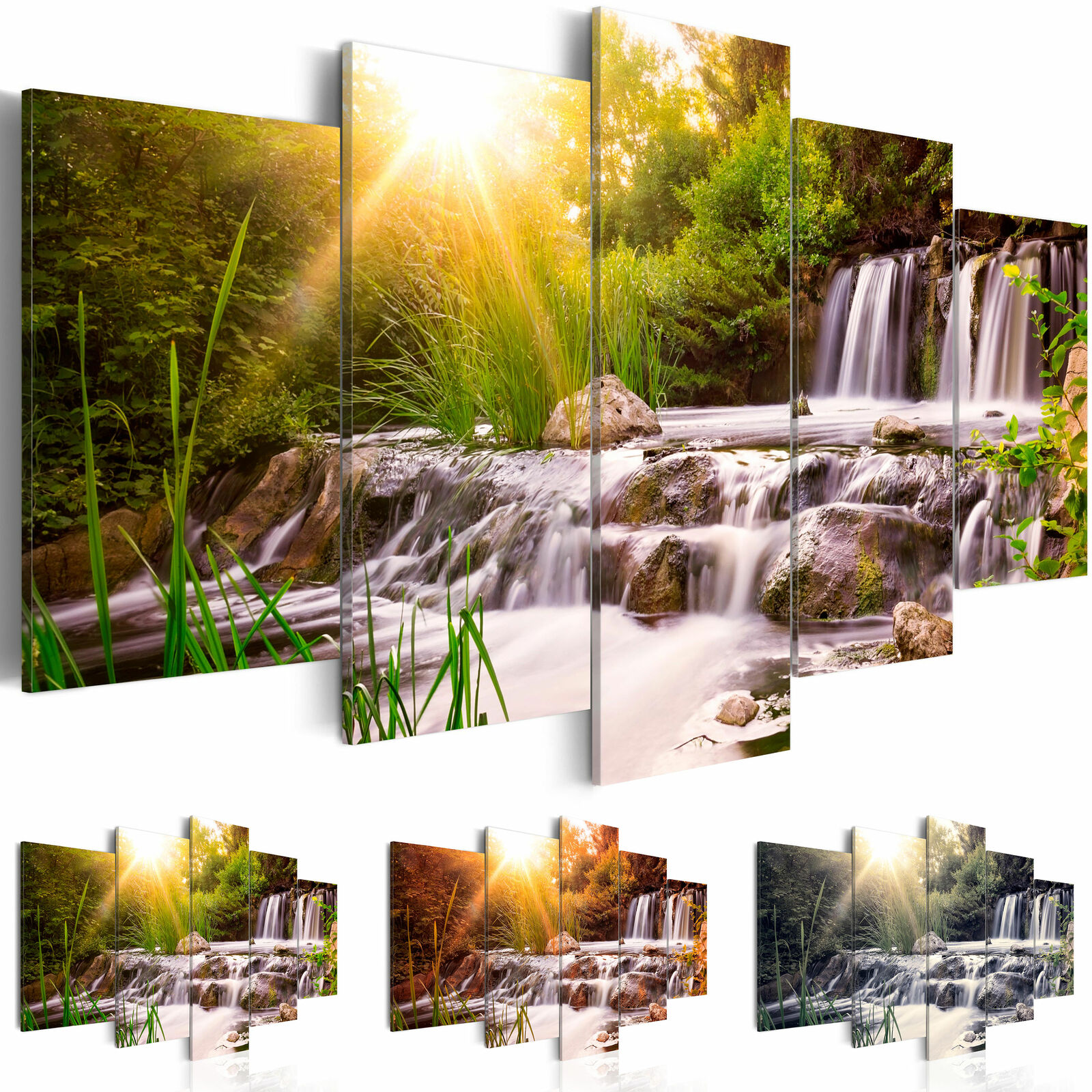 leinwand bilder xxl kunstdruck bild wasserfall natur landschaft c c 0026 b n eur 22 90. Black Bedroom Furniture Sets. Home Design Ideas