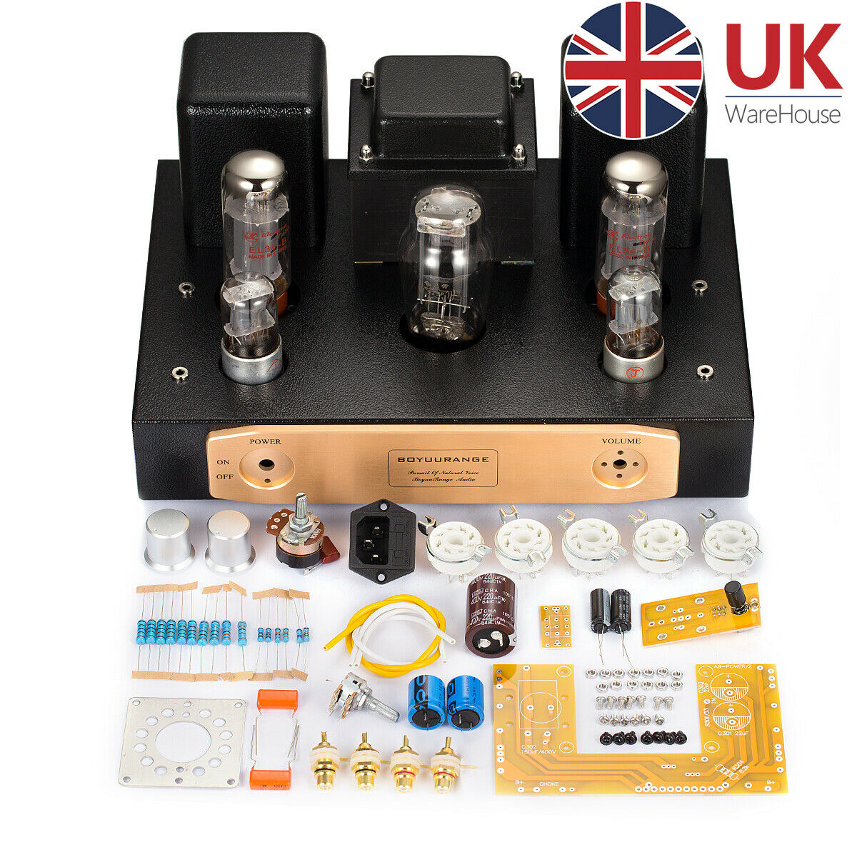 El34 Valve Tube Amplifier Single Ended Classa Hifi Stereo Amp Diy 20w Power With 1 Of 8only 2 Available