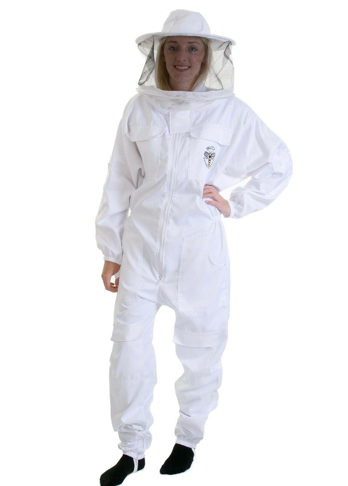 BUZZ Beekeepers White Bee Suit with Round Veil - All sizes