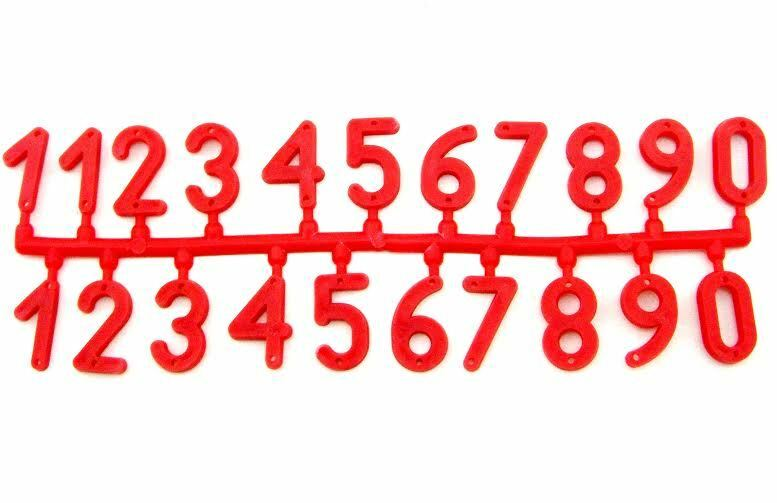 Bee hive numbers - All quantities RED
