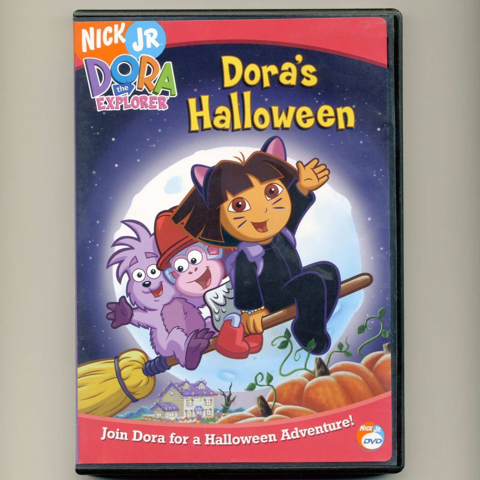 dora's halloween g mint dvd nick jr. pbs 4 episodes boots, wizard