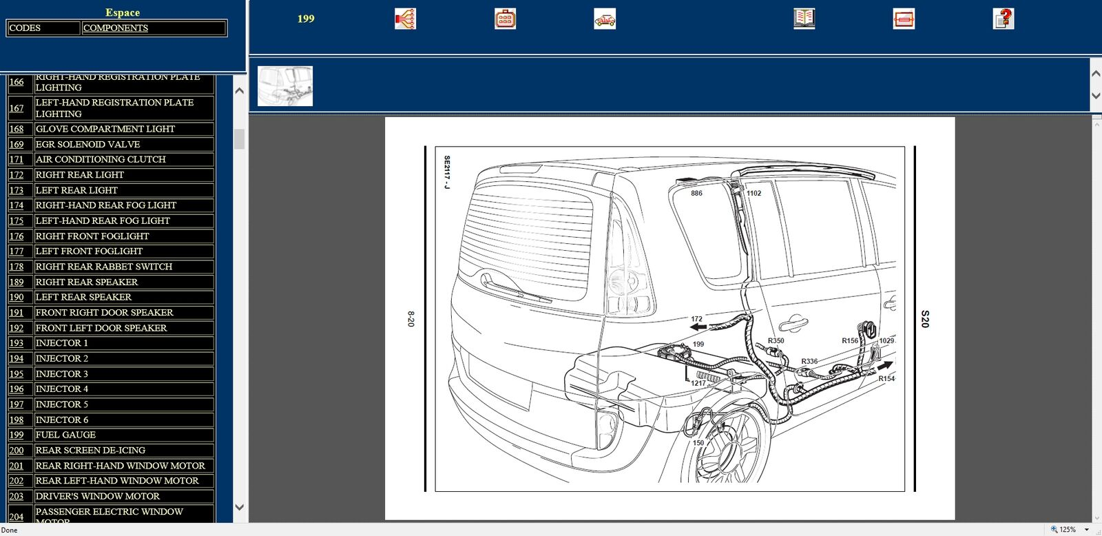 renault visu wiring diagrams for renault can clip sonde platinum collection 163 34 95 picclick uk