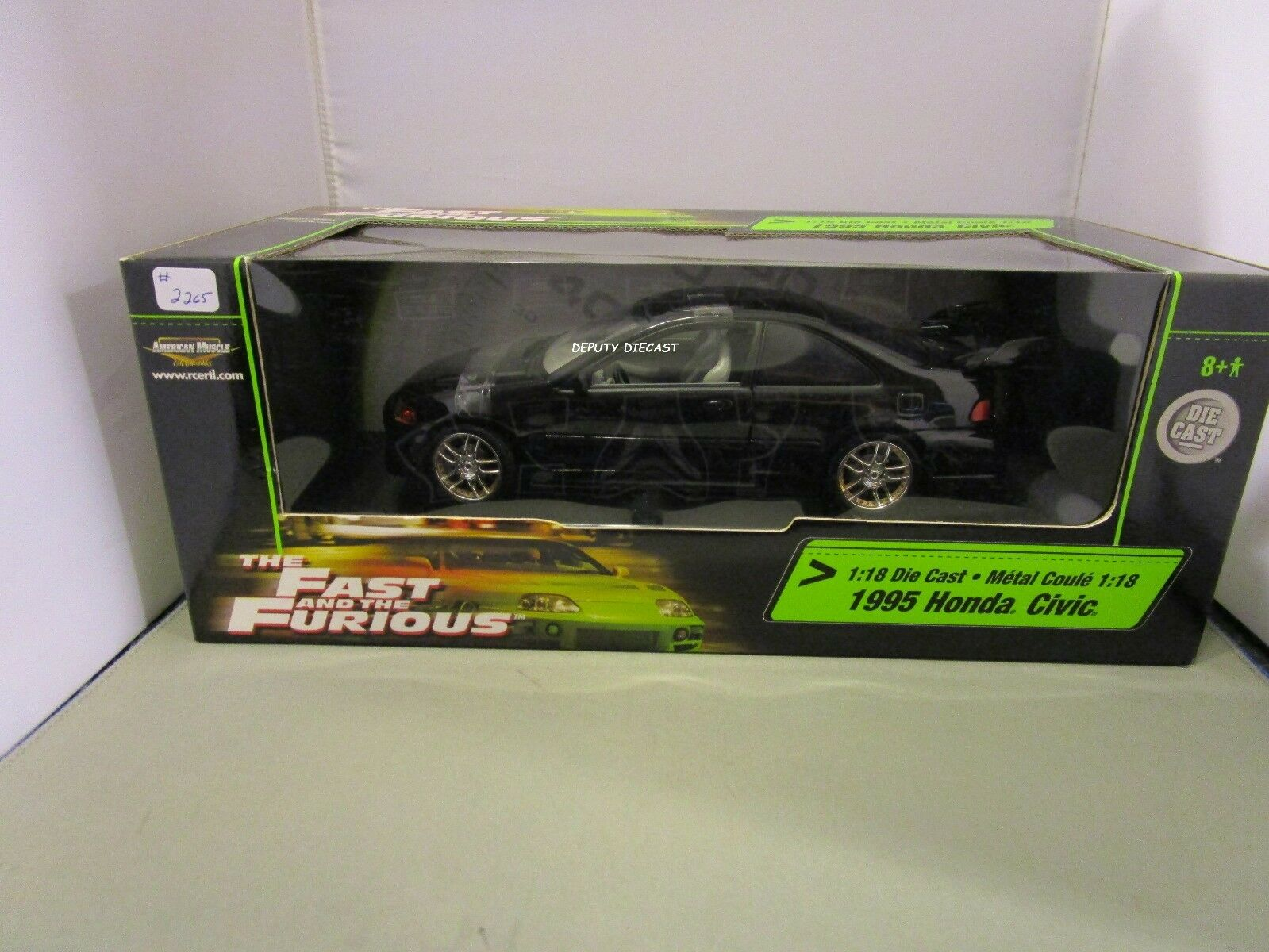 Ertl 1 18 American Muscle Fast And Furious Black 1995