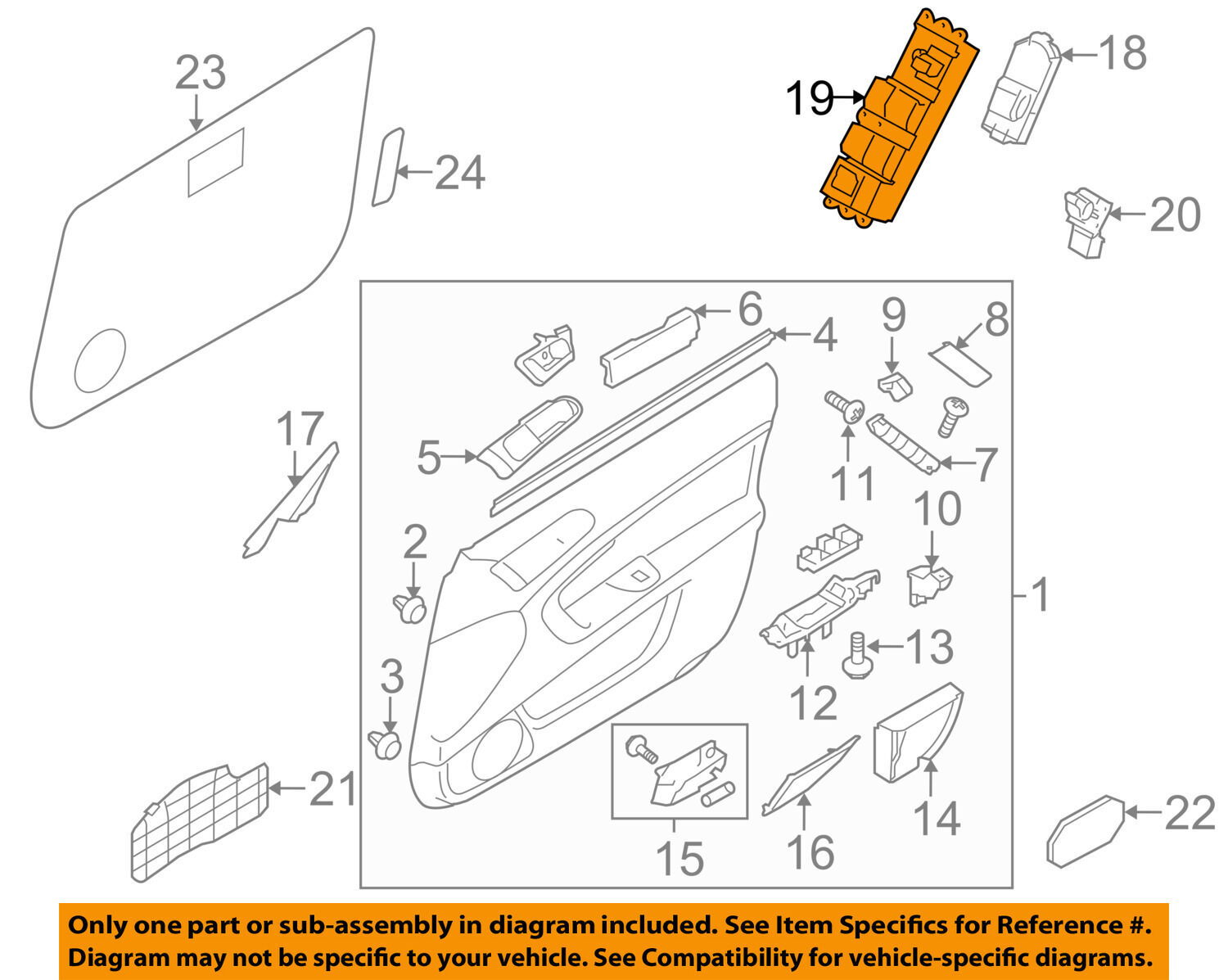 Subaru Oem 05 09 Outback Door Window Switch Left 83071ag05b Legacy Wiring Diagram 1 Of 1only Available