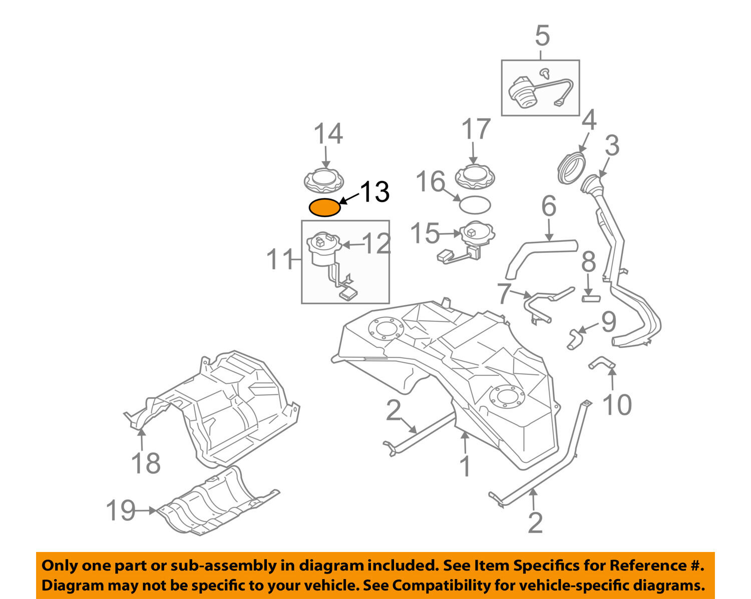 Nissan Oem Fuel System Gas Tank Sending Unit Seal 17342ce800 1 Of 2free Shipping