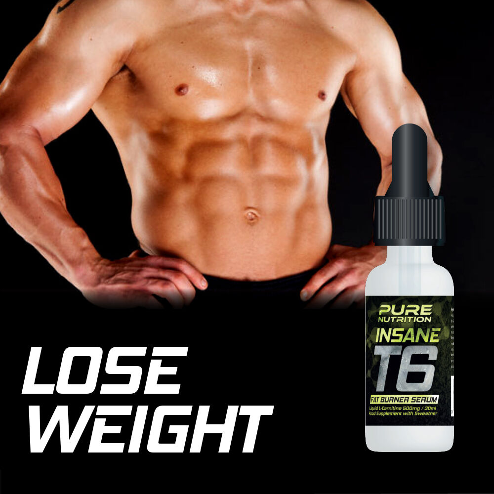 Pure Nutrition T6 Insane Fat Burner Serum Lose Weight No