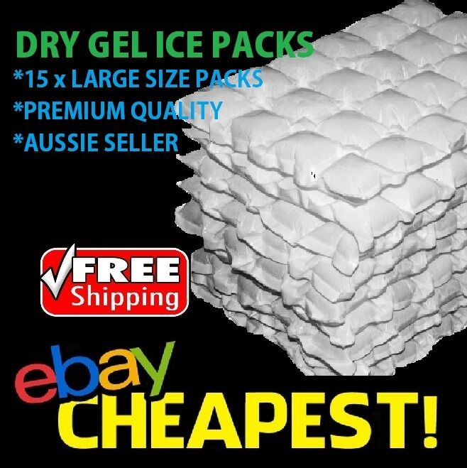 15 x Sheets DRY GEL ICE PACKS - Reusable Hydratable Eski Cooler