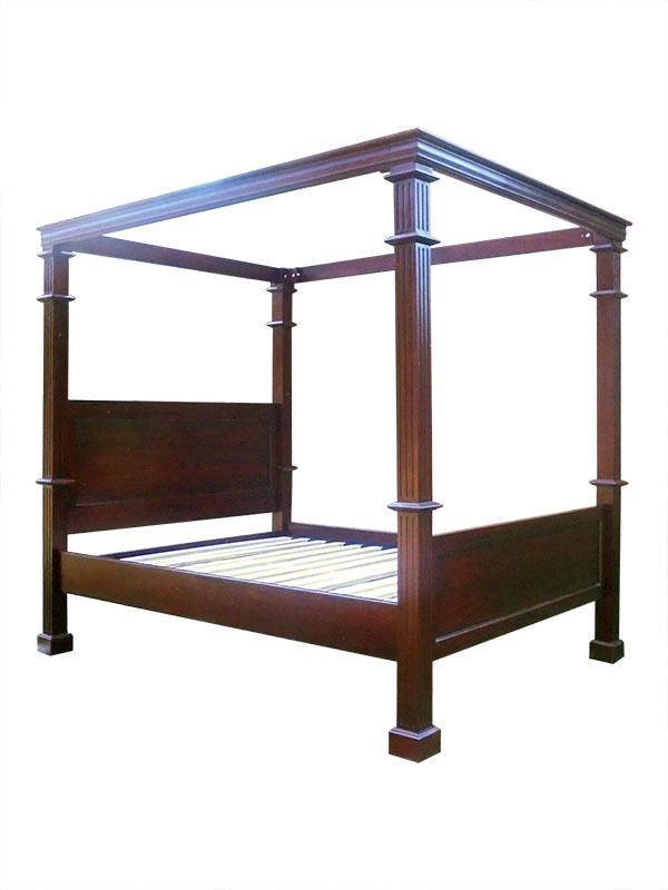 Colonial Style Four Poster Bed-Mahogany-Warehouse Clearance Ending 25 July