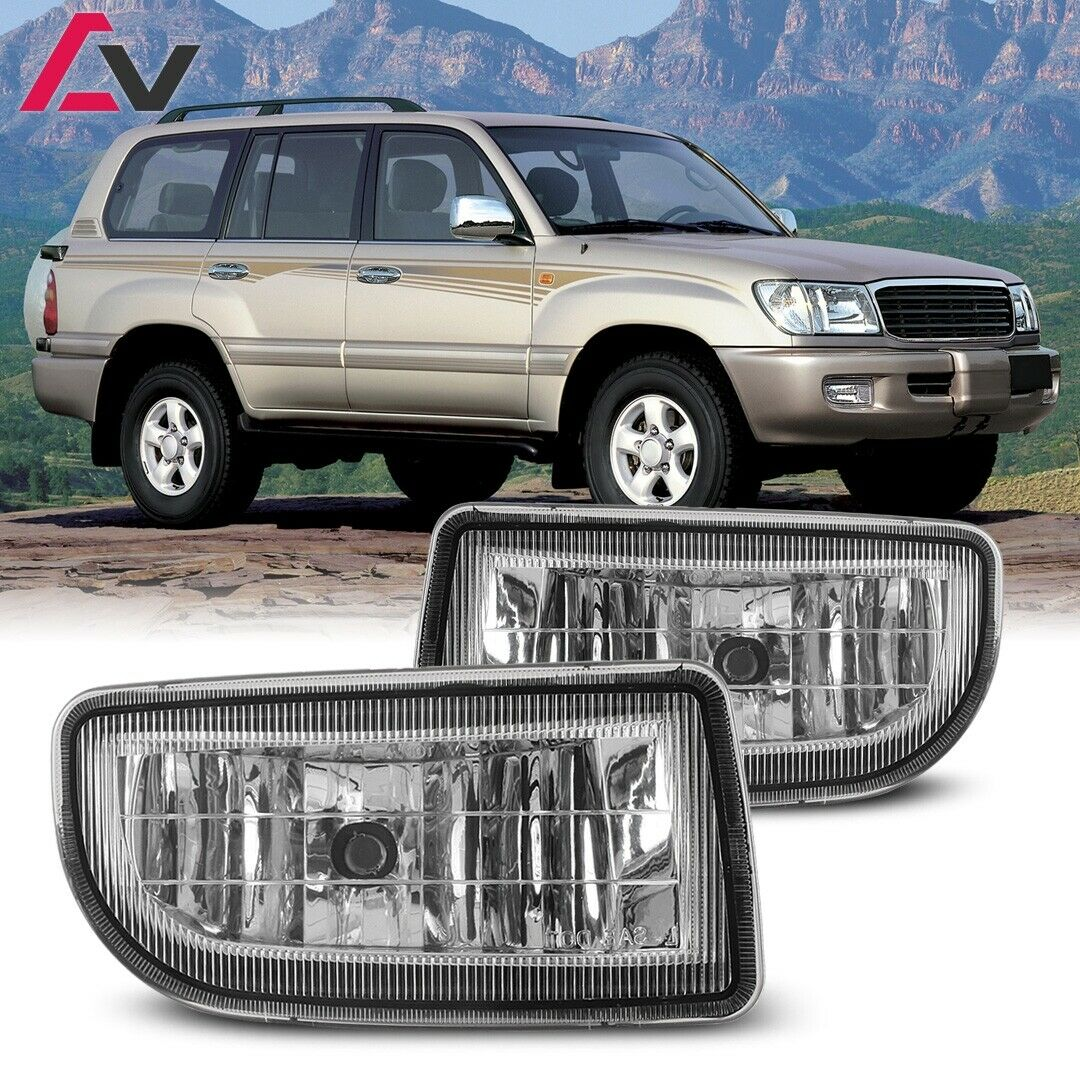 For 98 07 Toyota Land Cruiser Fog Lights Wiring Switch And Bezels 1 Of 3only Available