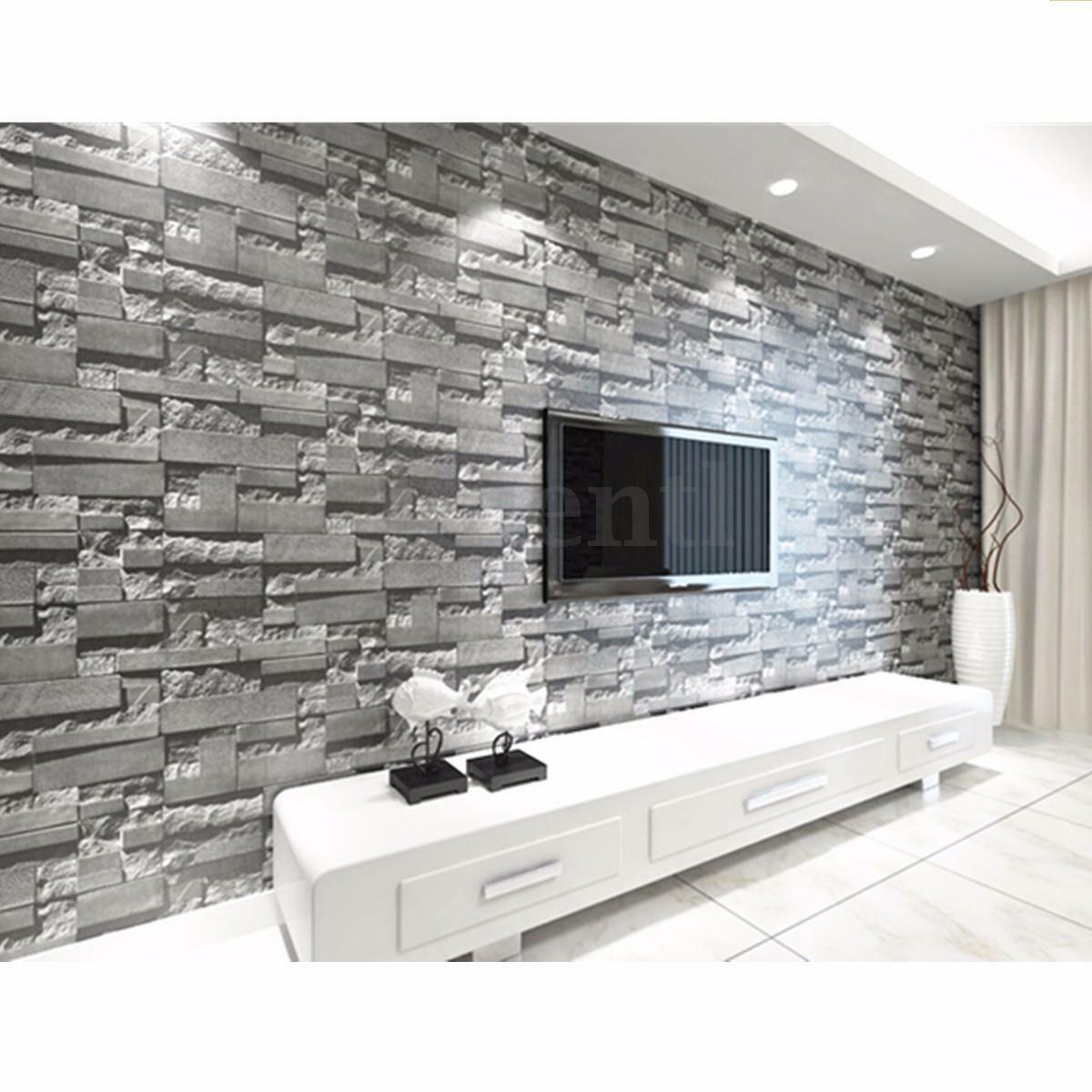 1 Of 12FREE Shipping 10M 3D Wallpaper Bedroom Mural Roll Modern Stone Brick  Wall Background Textured