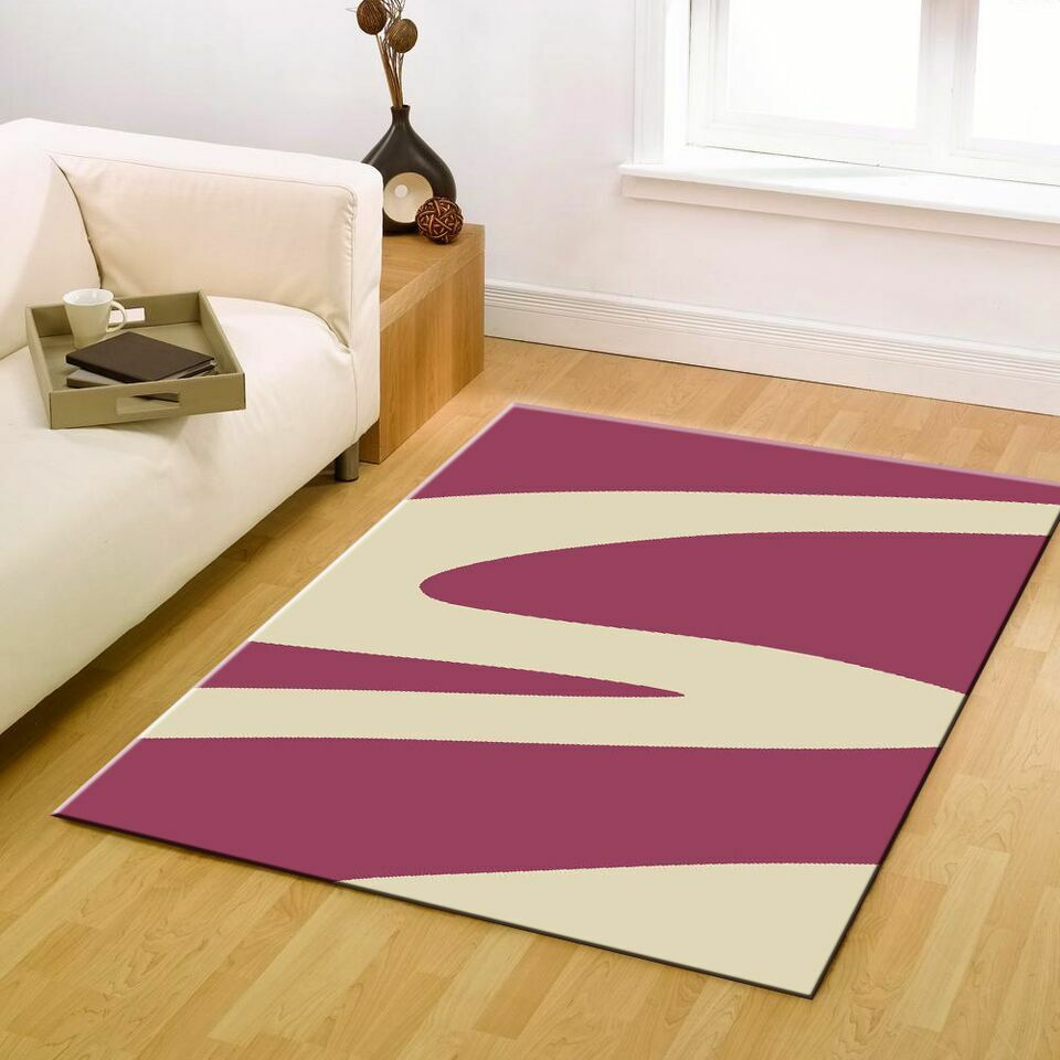 New Large Floor Rug Pink Cream Modern Design Carpet Mat 230 X 160 Free Delivery AUD 8900