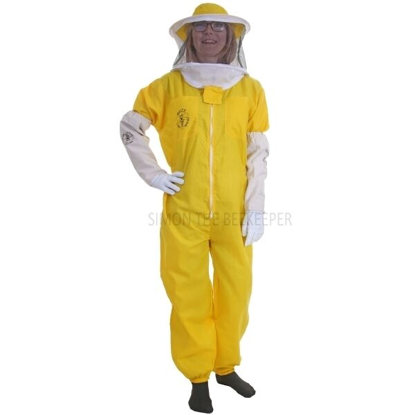 Buzz Basic Beekeepers Suit With Round Veil And Gloves - Yellow
