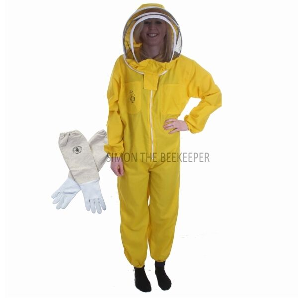 Buzz Basic Beekeepers Suit With Fencing Veil And Gloves - Yellow *All Sizes*