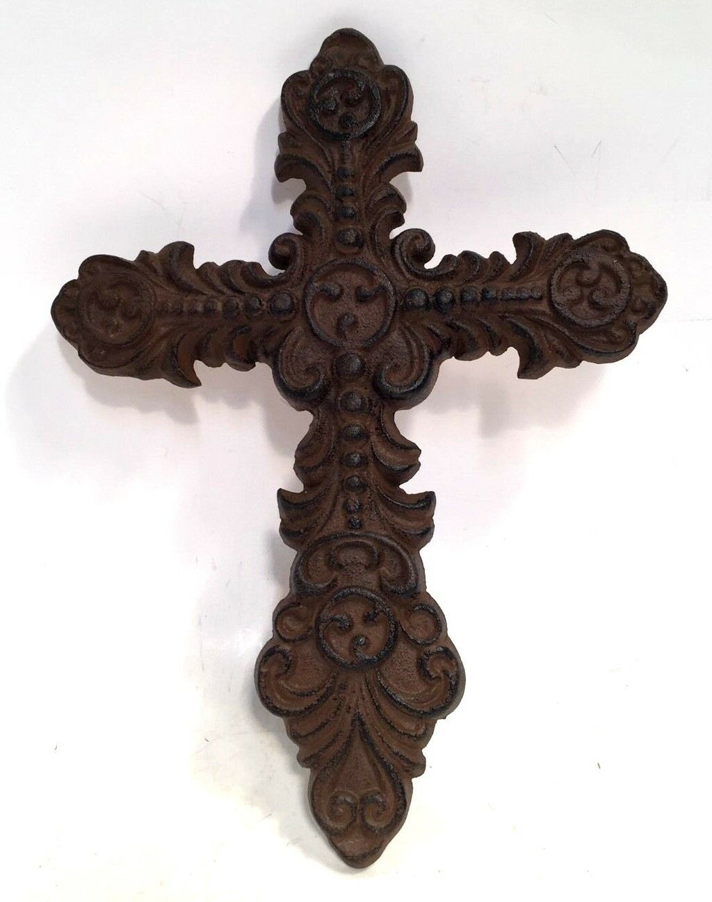 Cross Crucifix Cast Iron Wall Hanging New Vintage Decorative Home Style Decor