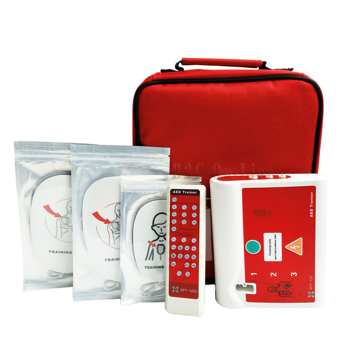 3 Units Aed Trainer First Aid Training Machine For Aed Cpr Course