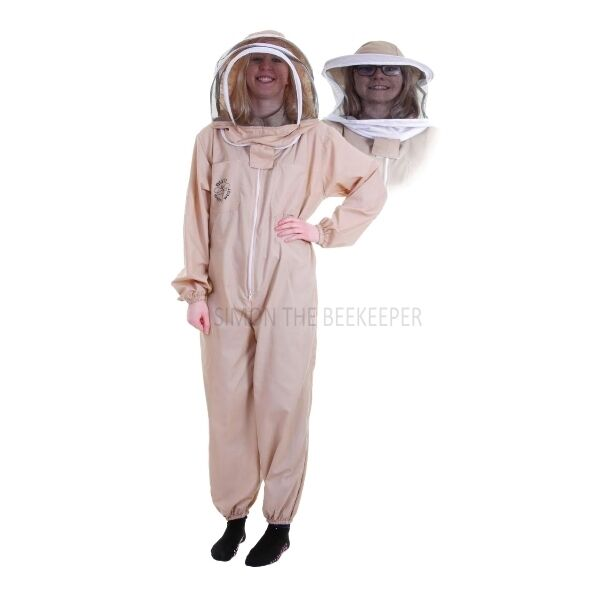 BUZZ BASIC Khaki Suit with Fencing Veil and Round Veil