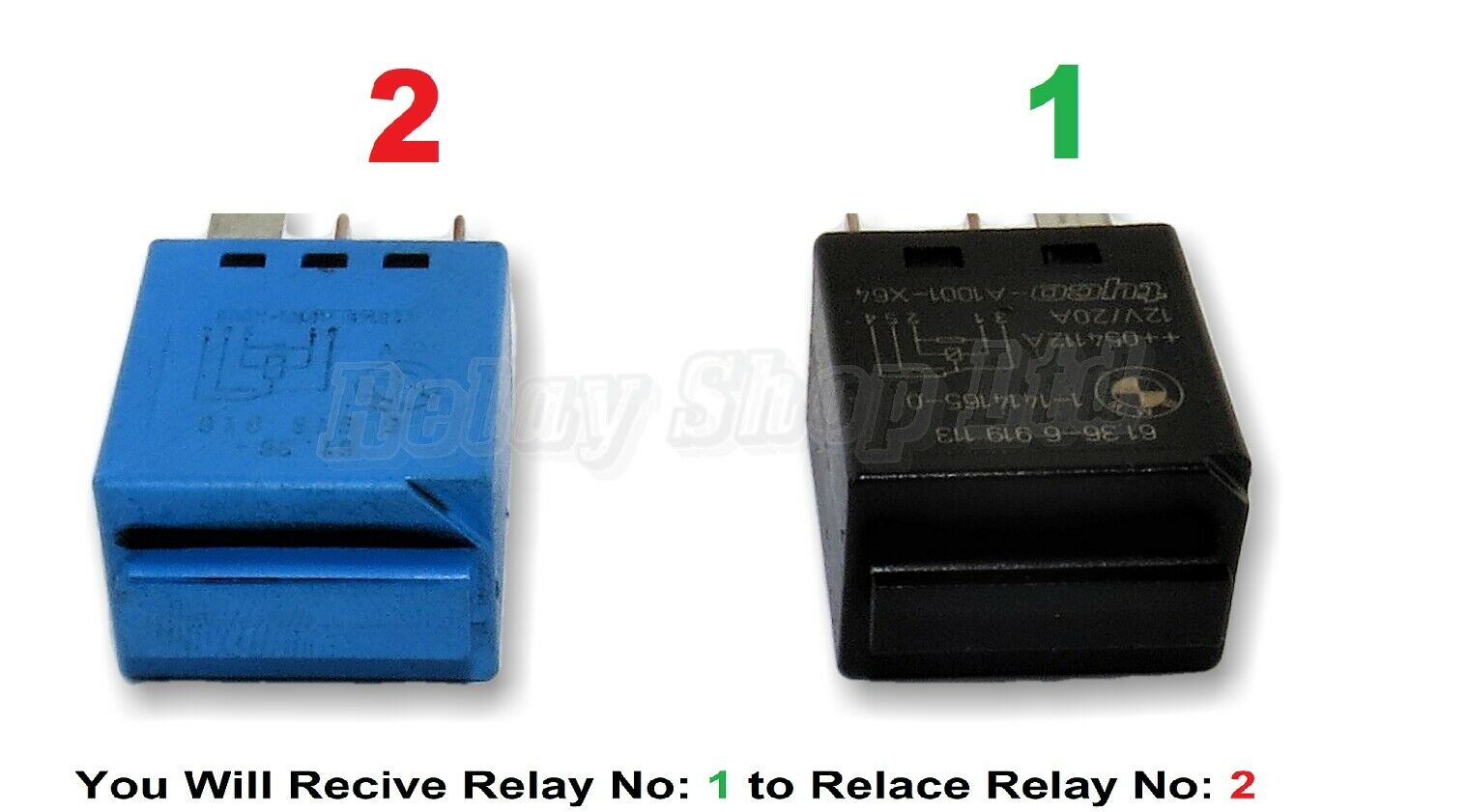 297 Bmw 2004 2015 Silent Blue Relay 61366918816