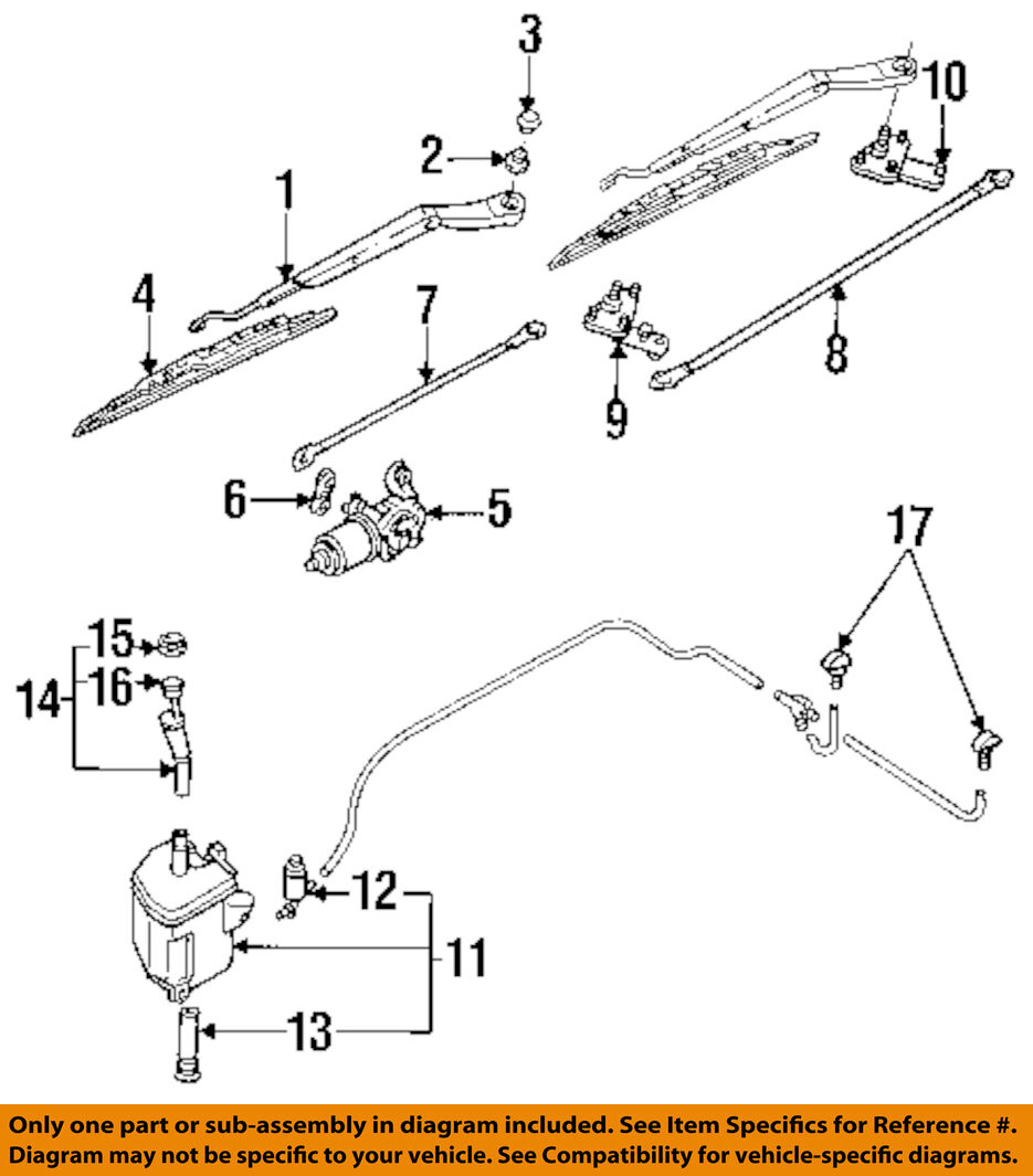 Infiniti Nissan Oem 91 96 G20 Wiper Transmission Link Rod 2884159j00 Diagrams 1 Of 1only 2 Available
