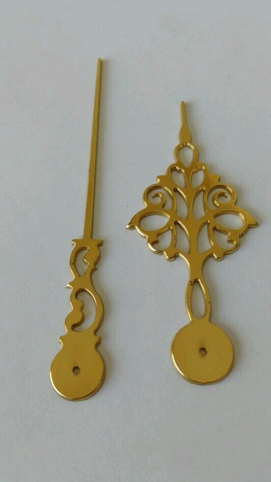 Polished Brass Clock Hands Milled 90mm