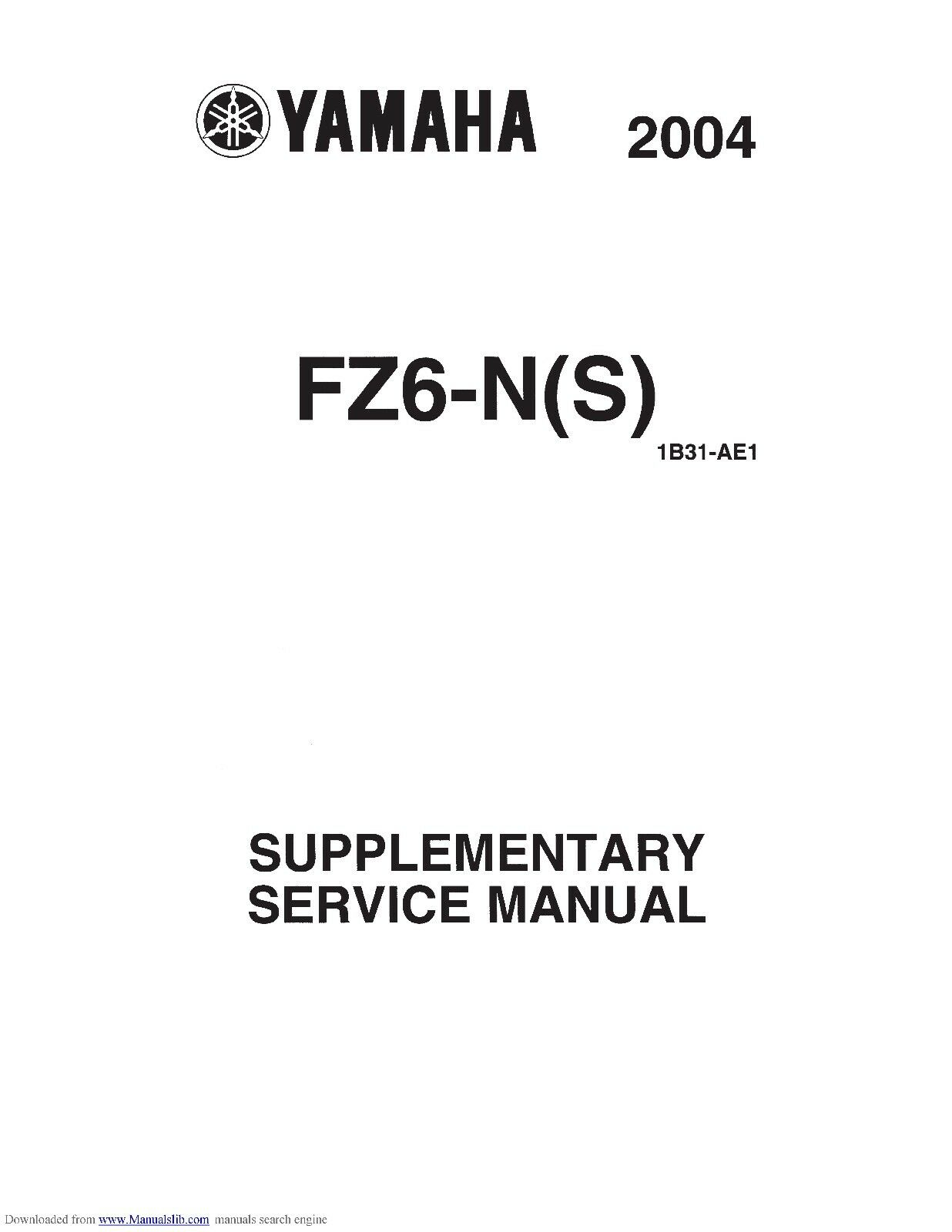 Yamaha service workshop manual 2004 FZ6-N(S) 1 of 12Only 1 available ...