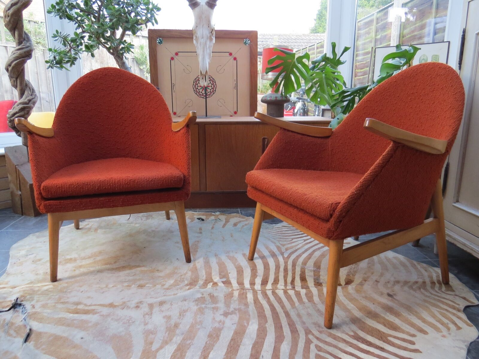 A Pair Of Vintage East German Cocktail Lounge Armchairs Circa 1965 Oc16-28A