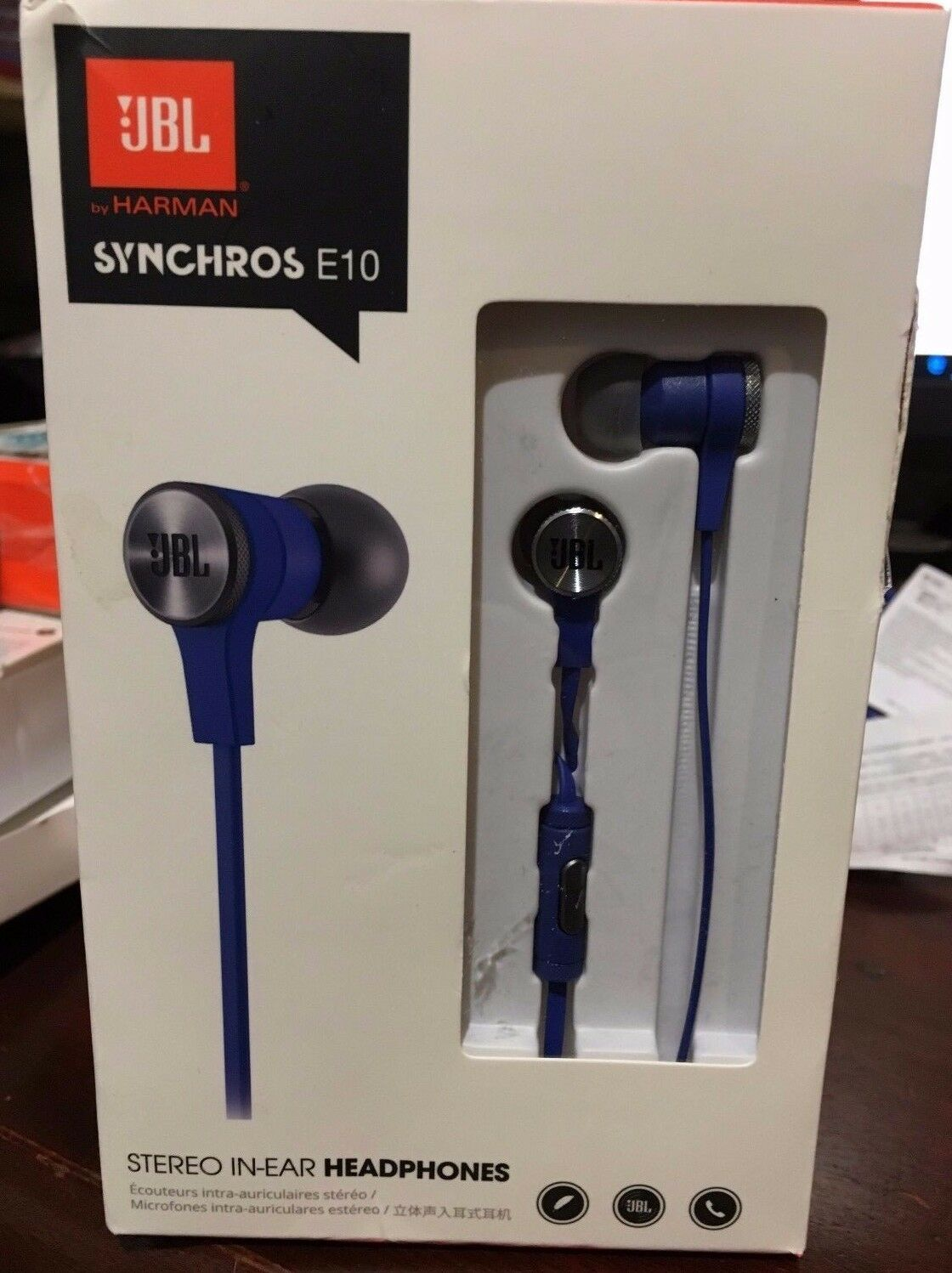 Jbl Synchros E10 In Ear Headphones Blue 1400 Picclick Headset E30 1 Of 1only 4 Available