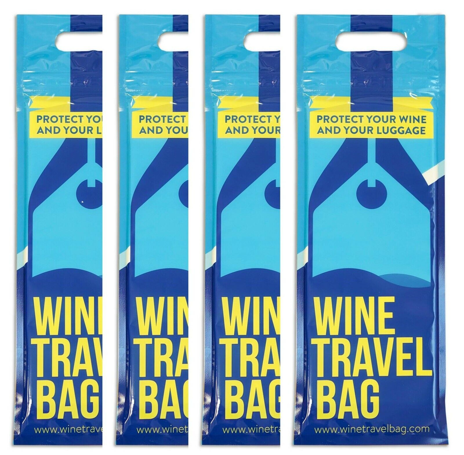 Wine Travel Bag - 4-Pack