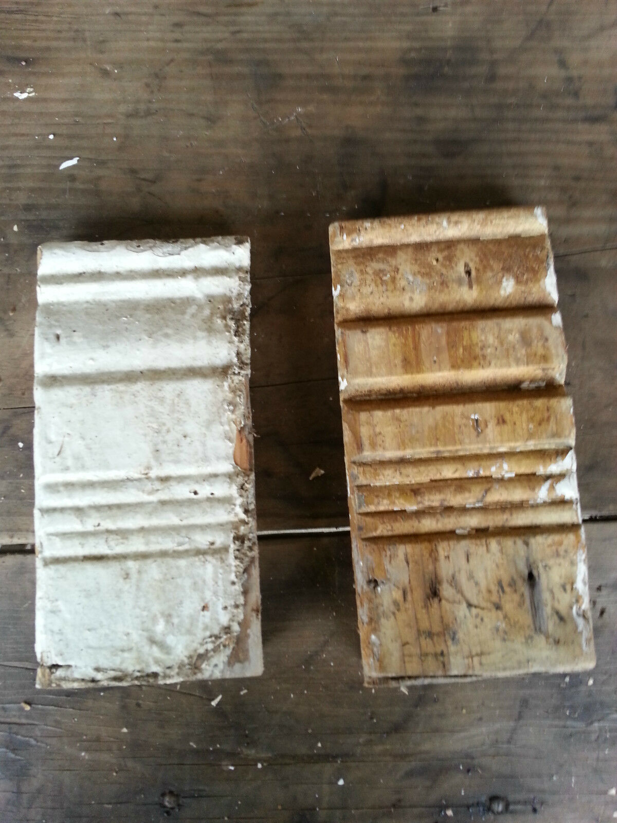 Antique Hand-carved ? Architectural Salvage Rosettes -chippy farmhouse #7