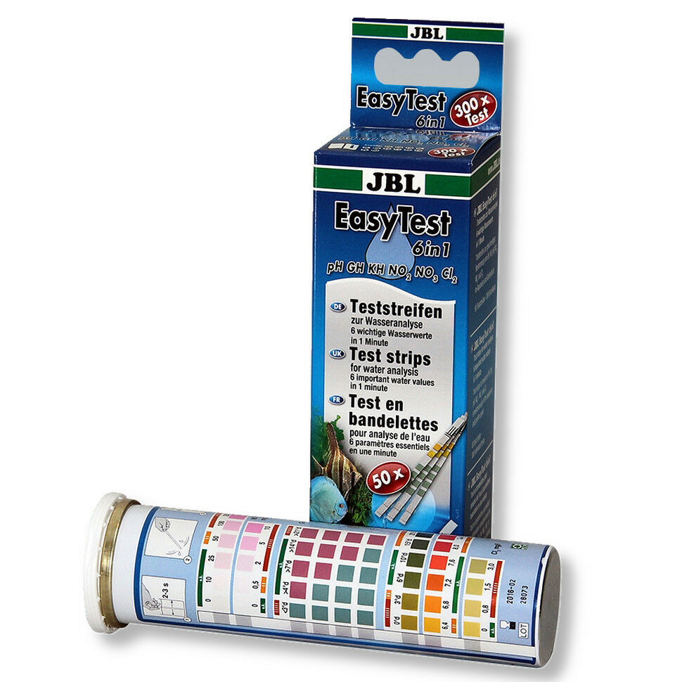 JBL Easy Test 6 in 1 Accurate Aquarium water test - 50 test kit strips